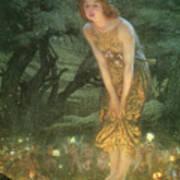Midsummer Eve Art Print by Edward Robert Hughes