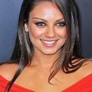 Mila Kunis At Arrivals For Friends With Art Print