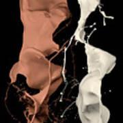 Milk And Liquid Chocolate Splash Art Print