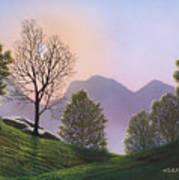 Misty Spring Meadow Art Print