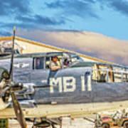 Marine Mitchell B-25 Pbj  Art Print