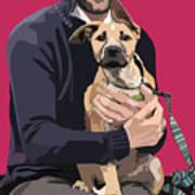 Mixed-breed Puppy Art Print