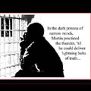 Mlk In Jail Art Print