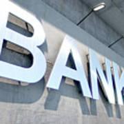Modern Bank Building Signage Art Print