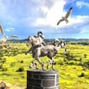 Modern Horse Statue Art Print