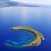 Molokini Aerial Art Print by Ron Dahlquist - Printscapes