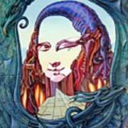 Mona Lisa. Fire Art Print