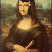 Mona Lisa  Graduation Day Art Print