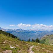 Montana-glacier National Park-highline Trail Art Print
