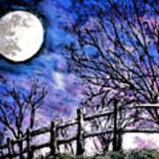 Moon O're Hocking Hills Art Print