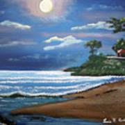 Moonlight In Rincon II Art Print