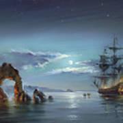 Moonlight Night Art Print