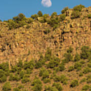 Moonrise Rio Grande Gorge Pilar New Mexico Art Print