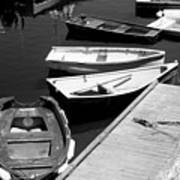 Moored Boats Art Print