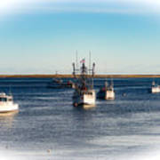 Moored In Chatham Harbor Art Print