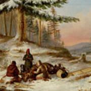 Moose Hunters Art Print
