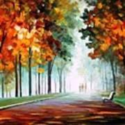 Morning Fog - Palette Knife Oil Painting On Canvas By Leonid Afremov Art Print