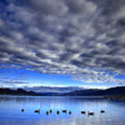Morning Light On Okanagan Lake Art Print