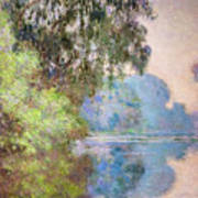 Morning On The Seine Near Giverny 1897 Art Print