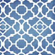 Moroccan Blues Art Print