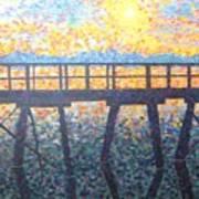 Mosiac Pier Art Print