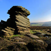 Mother Cap Gritstone Rock Formation, Millstone Edge Art Print