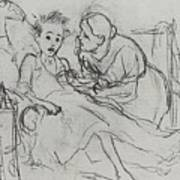 Mother With Sick Child 1878 Fig 29 9h22 6 Tg Vasily Perov Art Print