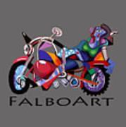 Motorcycle Mama Art Print