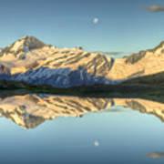 Mount Aspiring Moonrise Over Cascade Art Print