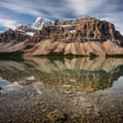 Mount Crowfoot Reflection Art Print