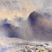 Mount Snowdon Through Clearing Clouds Art Print