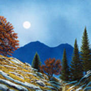 Mountain Moonrise Art Print