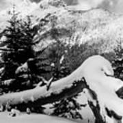 Mountain Snow 2 Art Print