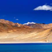 Mountains And Rocks Pangong Tso Lake Leh Ladakh Jammu Kashmir India Art Print