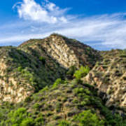 Mountains At Towsley Canyon In Southern California Art Print