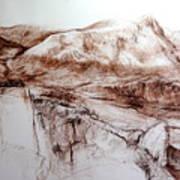 Mountains In Snowdonia Art Print