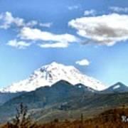 Mt Rainier Washington Art Print