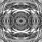 Mystical Eye - Abstract Black And White Graphic Drawing Art Print