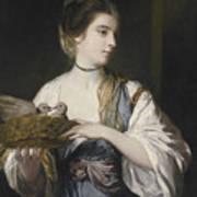 Nancy Reynolds With Doves Art Print