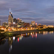 Nashville Tennessee Skyline Sunrise  Art Print