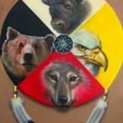 Native American Medicine Wheel Art Print by Amatzia Baruchi