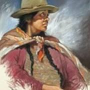 Native Peruvian Woman Art Print
