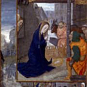 Nativity With Shepherds Art Print