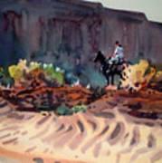 Navajo Rider Art Print