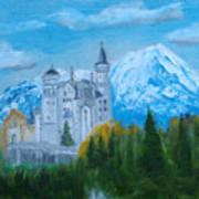 Neuschwanstein Castle In Bavaria Art Print