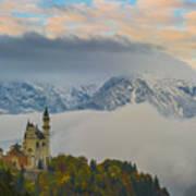 Neuschwanstein Castle Landscape Art Print