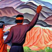 New Mexico And Arizona Rockies Art Print