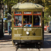 New Orleans Cable Car Art Print