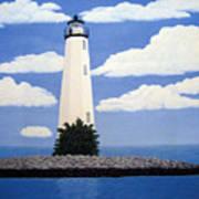 New Point Comfort Lighthouse Art Print