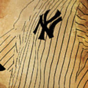 New York Yankees Baseball Team Vintage Card Art Print